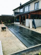 aanleg van terrassen en opritten